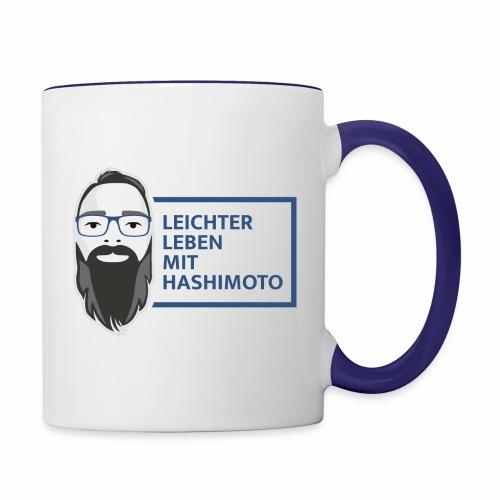 leichter leben mit hashimoto slogan v03 - Tasse zweifarbig