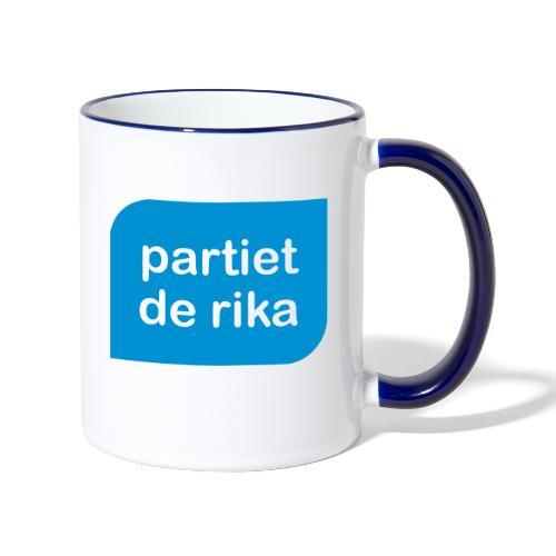 Logo blå - Tvåfärgad mugg