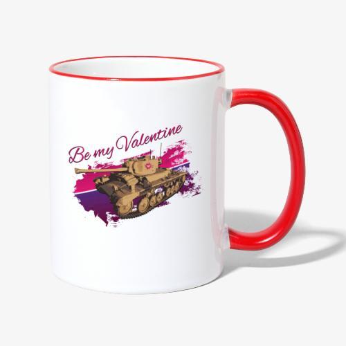 Be my Valentine Tank - Tasse zweifarbig