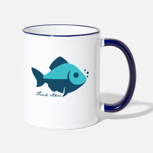 Fisch Ahoi - Tasse zweifarbig