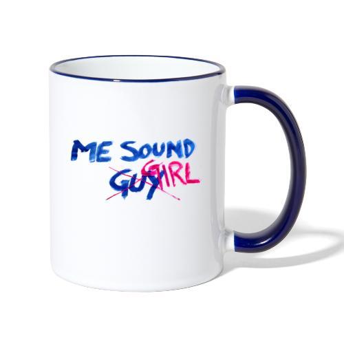 me = sound girl - Contrasting Mug