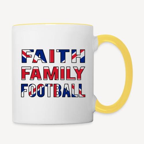 FAITH FAMILY FOOTBALL - Contrasting Mug