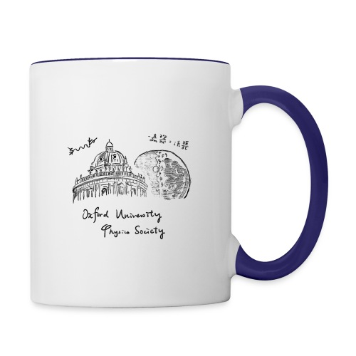 Oxford & Moon (Dark on White) - Contrasting Mug