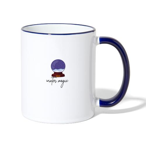 winter magic, snow, winter coming, magic bullet - Contrasting Mug