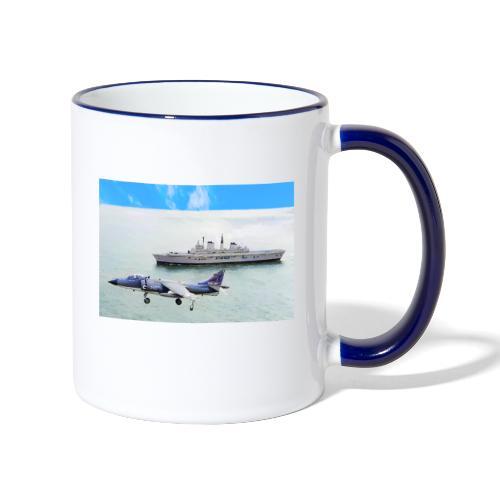 Sea harrier and Invicible digital oil - Contrasting Mug