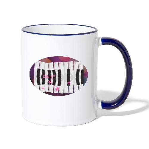 Harmonie Jazz au Piano - Mug contrasté