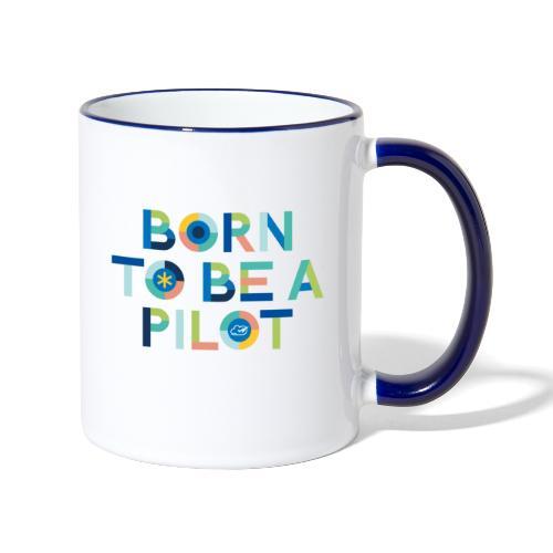 Born to be a pilot - Contrasting Mug