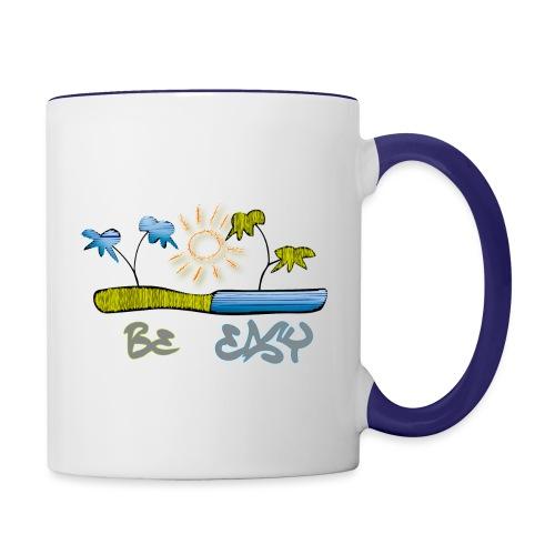 Urlaub, Sommer - Tasse zweifarbig
