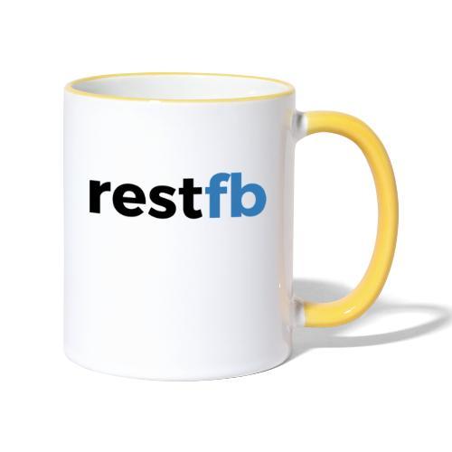 RestFB logo black - Contrasting Mug