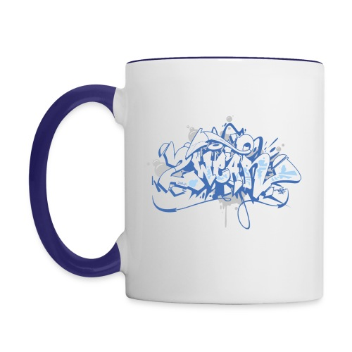 Dae 2Wear graffiti style ver01 blue edt - Tofarvet krus