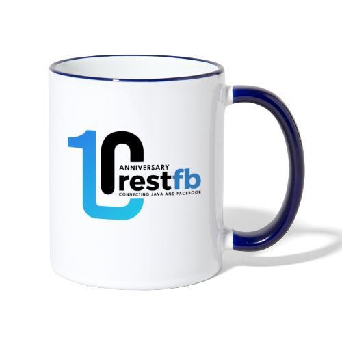 10years RestFB - anniversary logo - Contrasting Mug