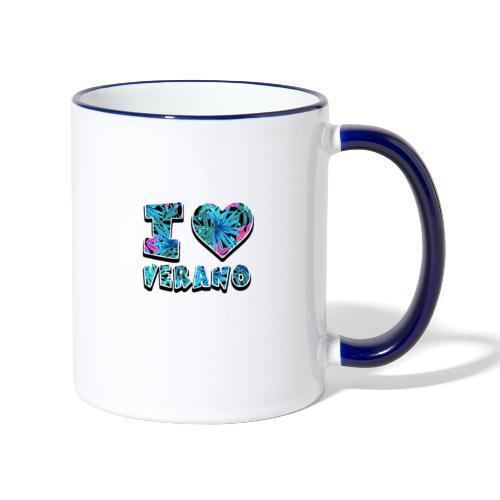 I Love Verano - Taza en dos colores