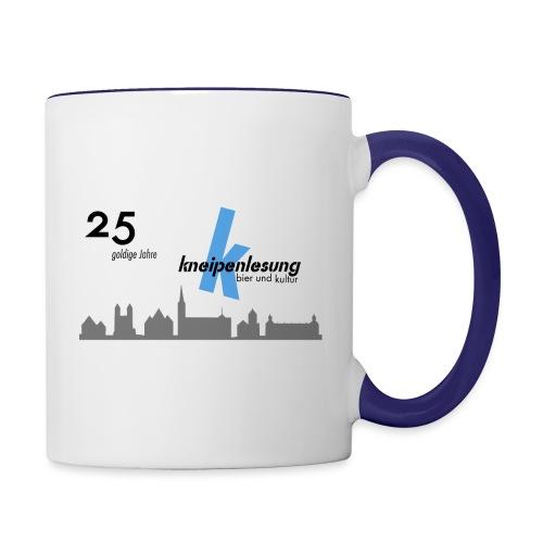 25 Jahre Tasse - Tasse zweifarbig
