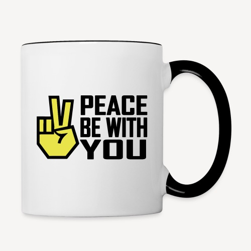 PEACE BE WITH YOU - Contrasting Mug
