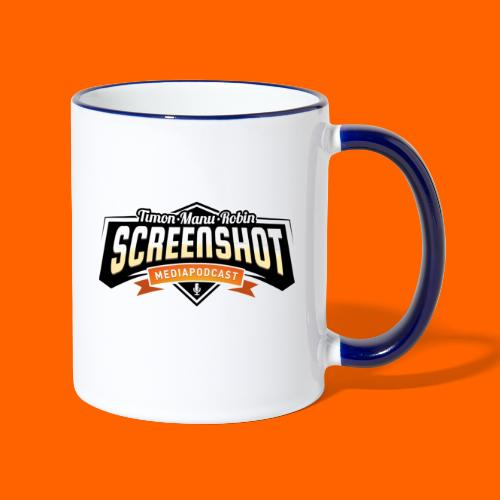 Screenshot-Podcast Logo - Tasse zweifarbig