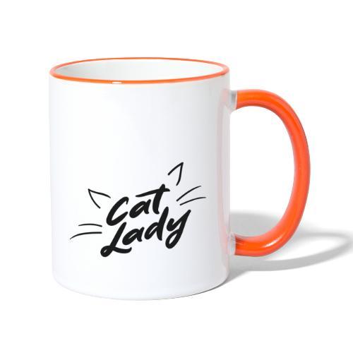 Cat Lady - Tasse zweifarbig