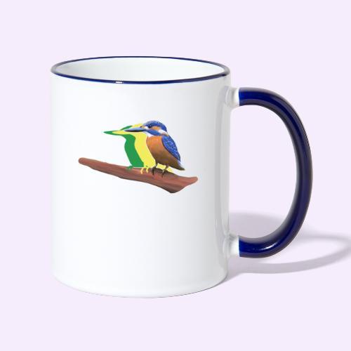 Eisvogel - Tasse zweifarbig