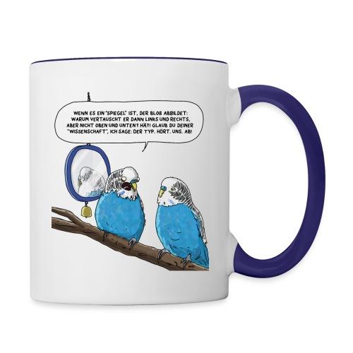 Quantensittich - Tasse zweifarbig