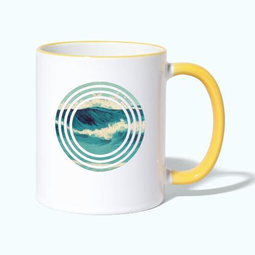 Wave vintage watercolor - Contrasting Mug