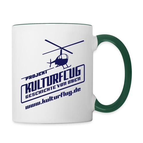 Kulturflug navy 28x28 www - Tasse zweifarbig