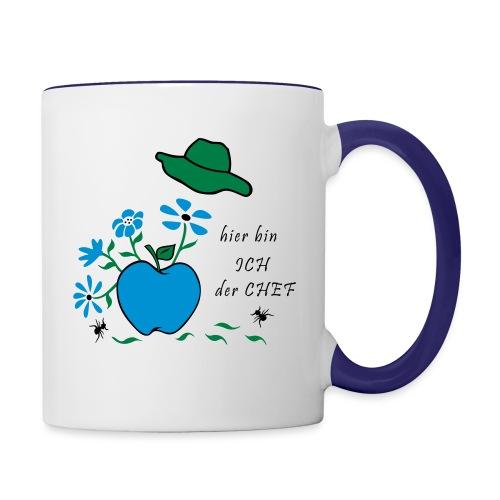 Gartenkönigin - Tasse zweifarbig