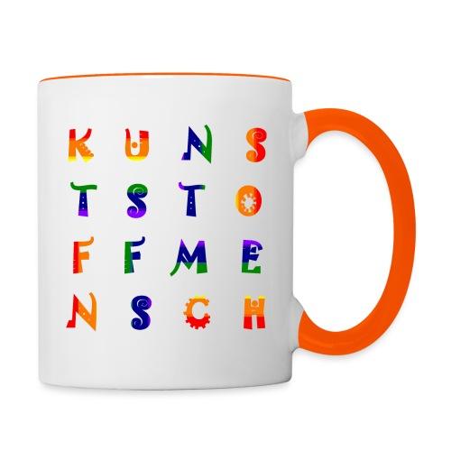 KunstStoffMensch #6 - Rainbow Edition - Tasse zweifarbig