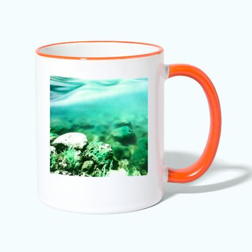 Zen beach watercolor minimalism - Contrasting Mug