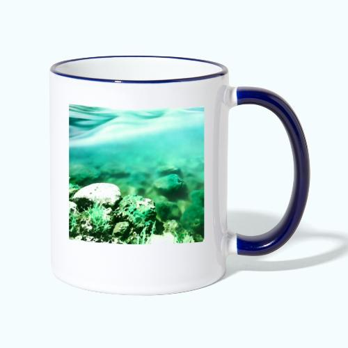 Zen beach watercolor minimalism - Contrasting Mug