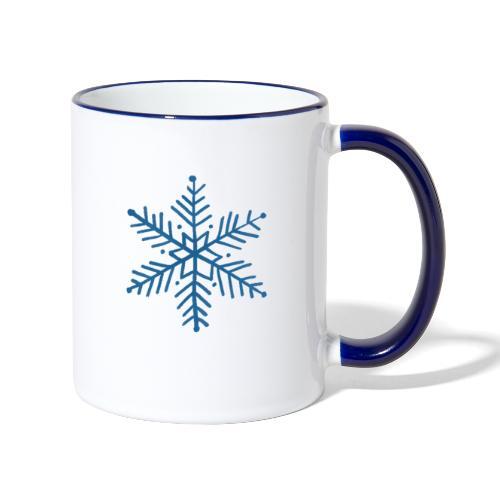 flocon de neige bleu - Mug contrasté