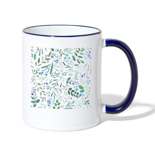 pattern floral watercolor - Tazze bicolor