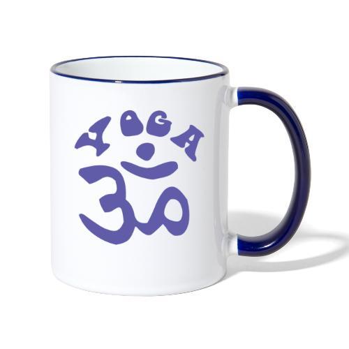 albero di yoga yogi namaste pace amore arte hippie - Tazze bicolor