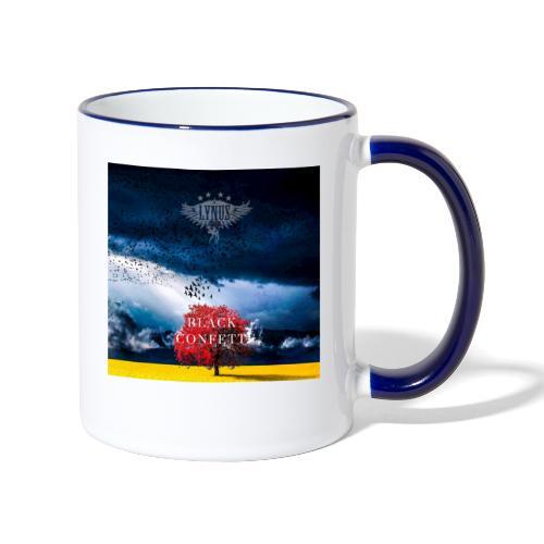 Black Confetti Promo Design - Contrasting Mug