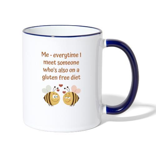 Glutenfree friends - Tasse zweifarbig