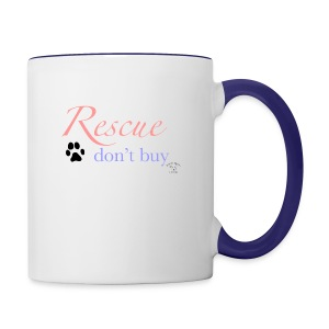 Rescue don't buy - Contrasting Mug
