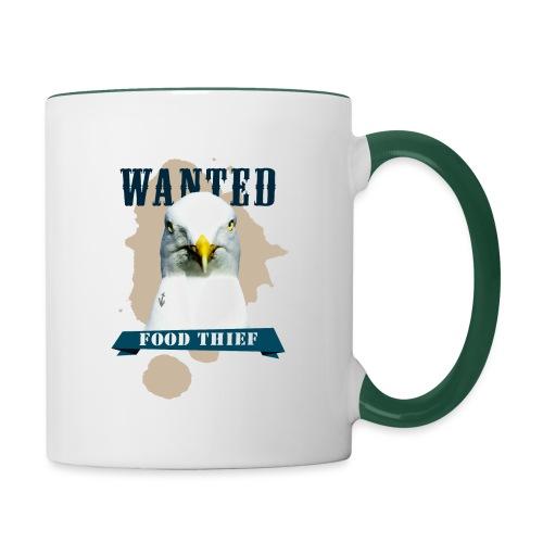 WANTED - FOOD THIEF - Tasse zweifarbig