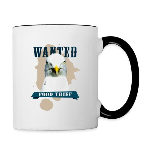 WANTED - FOOD THIEF - Tasse zweifarbig