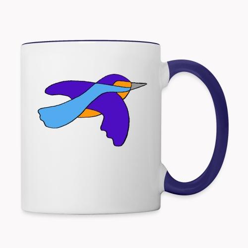 Martin-pêcheur nature - Mug contrasté