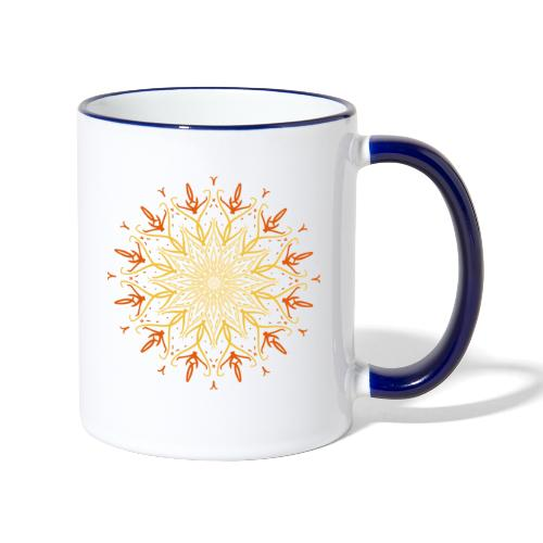 Mandala of fire - Contrasting Mug
