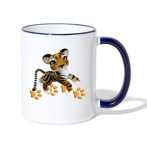 Kleiner Tiger - Tasse zweifarbig