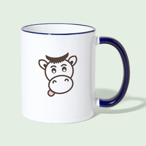 Kuh - Tasse zweifarbig