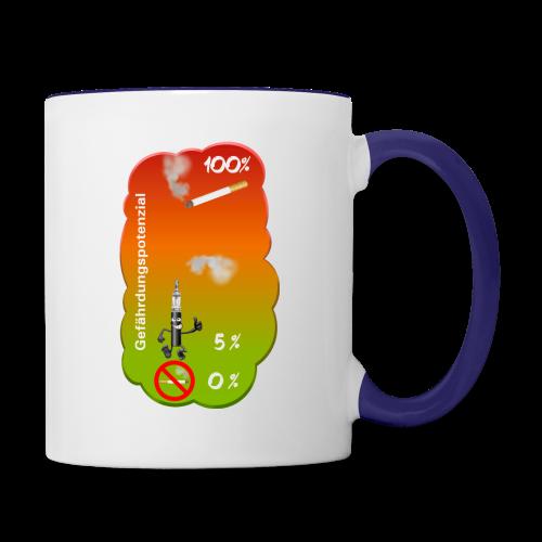 Gefährdungspotenzial - Tasse zweifarbig