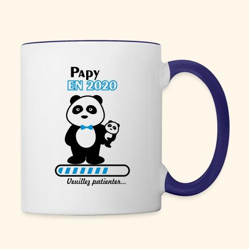 papy en 2020,Bientôt Papy,futur grand-père - Mug contrasté