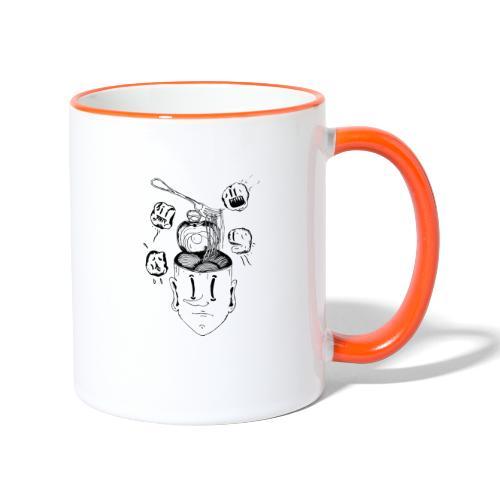 Spaghetti head - Contrasting Mug