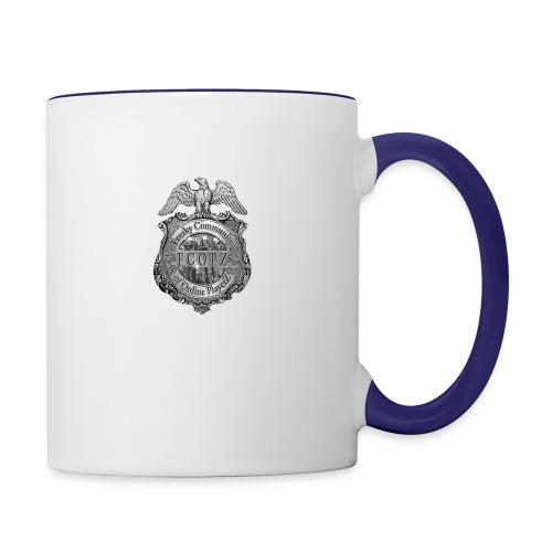 logo gross - Tasse zweifarbig