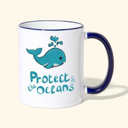 Protèges les océans - Mug contrasté