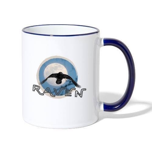 Australian Raven Full Moon - Contrasting Mug
