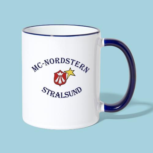 MC Nordstern Schrift gebogen - Tasse zweifarbig