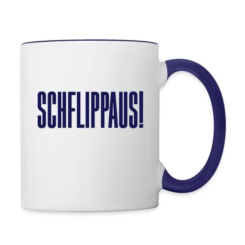 schflippaus - Tasse zweifarbig