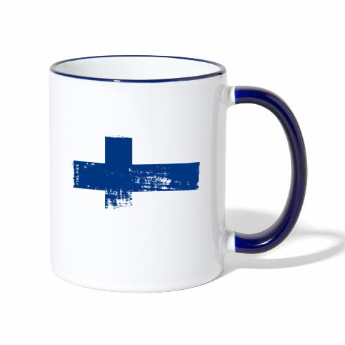 Suomen lippu, Finnish flag T-shirts 151 Products - Kaksivärinen muki