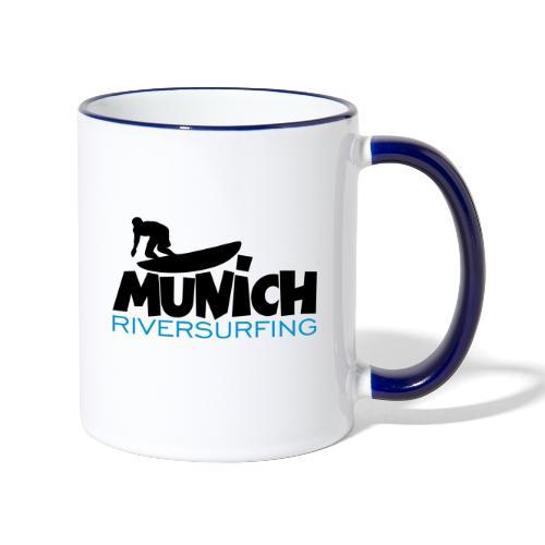 Munich Riversurfing München Surfer - Tasse zweifarbig